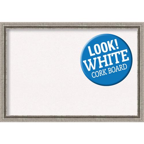 Amanti Art Bel Volto Silver, 39 In. x 27 In. White Cork Board