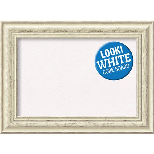 Amanti Art Country White Wash, 23 In. x 17 In. White Cork Board
