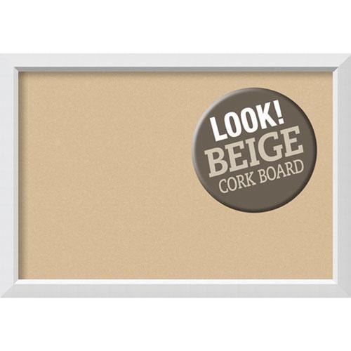 Amanti Art Blanco White, 40 In. x 28 In. Beige Cork Board