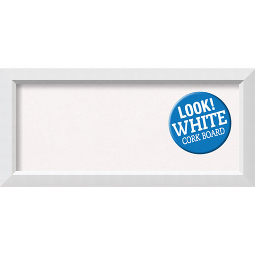 Amanti Art Blanco White, 34 In. x 16 In. White Cork Board