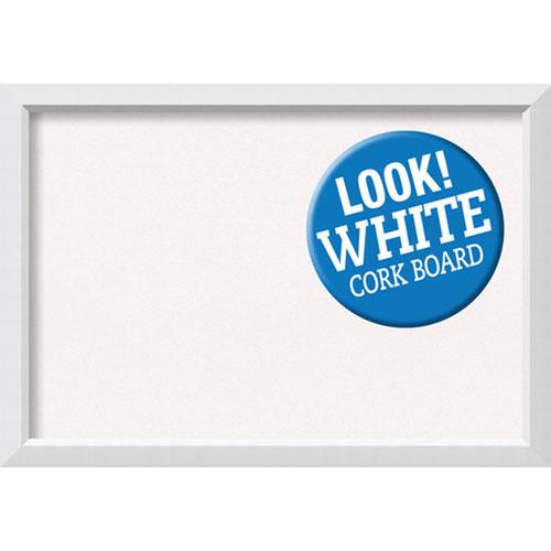 Blanco White, 40 In. x 28 In. White Cork Board