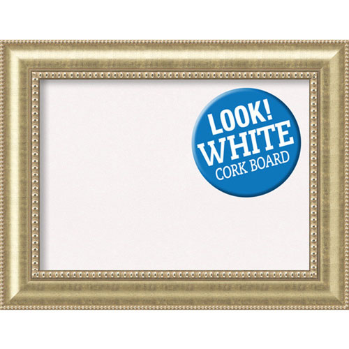 Amanti Art Astoria Champagne, 35 In. X 27 In. White Cork Board ...