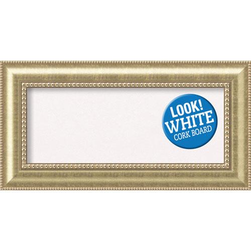 Amanti Art Astoria Champagne, 37 In. x 19 In. White Cork Board