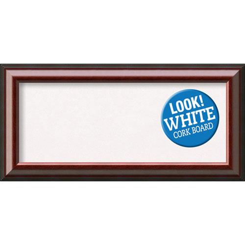 Amanti Art Cambridge Mahogany, 35 In. x 17 In. White Cork Board