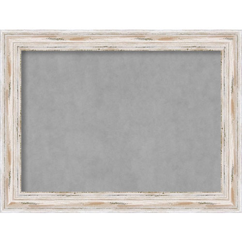 Alexandria White Wash, 33 In. x 25 In. Magnetic Board