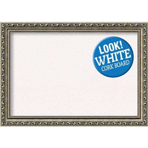 Amanti Art Parisian Silver, 21 In. x 15 In. White Cork Board