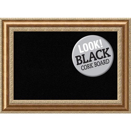 Amanti Art Vienna Bronze, 45 In. x 33 In. Black Cork Board