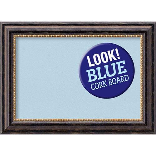 Amanti Art Tuscan Rustic, 22 In. x 16 In. Blue Cork Board