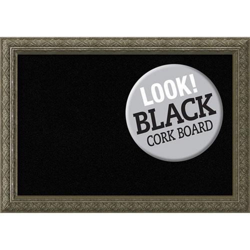 Amanti Art Barcelona Thin Champagne, 20 In. x 14 In. Black Cork Board