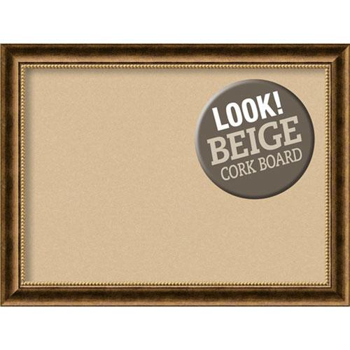 Amanti Art Manhattan Bronze, 32 In. x 24 In. Beige Cork Board
