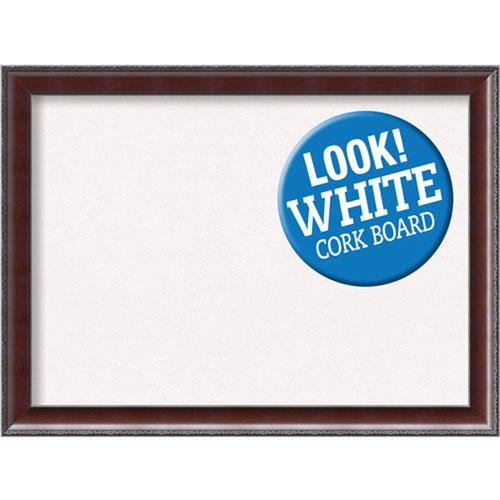 Amanti Art Country Walnut, 31 In. x 23 In. White Cork Board
