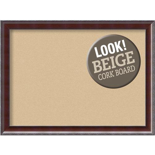 Amanti Art Country Walnut, 31 In. x 23 In. Beige Cork Board
