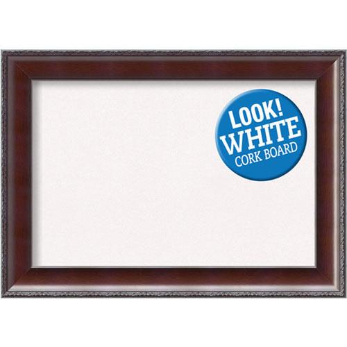 Amanti Art Country Walnut, 21 In. x 15 In. White Cork Board
