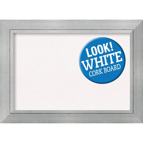 Amanti Art Romano Silver, 44 In. x 32 In. White Cork Board