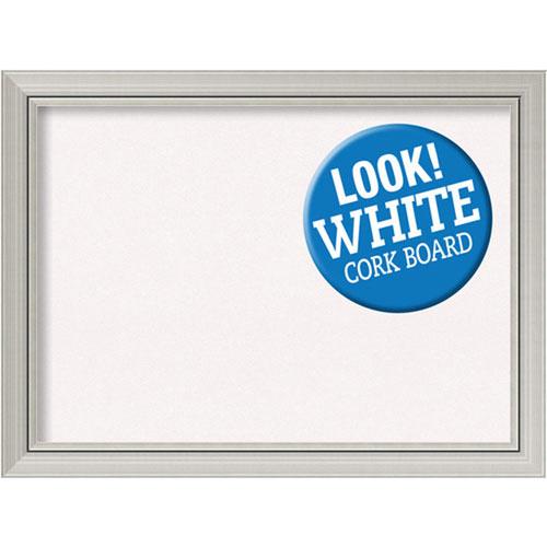 Amanti Art Romano Silver, 32 In. x 24 In. White Cork Board