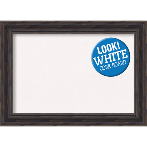 Amanti Art Rustic Pine, 21 In. x 15 In. White Cork Board