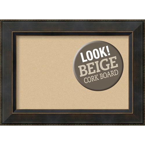 Amanti Art Signore Bronze, 23 In. x 17 In. Beige Cork Board
