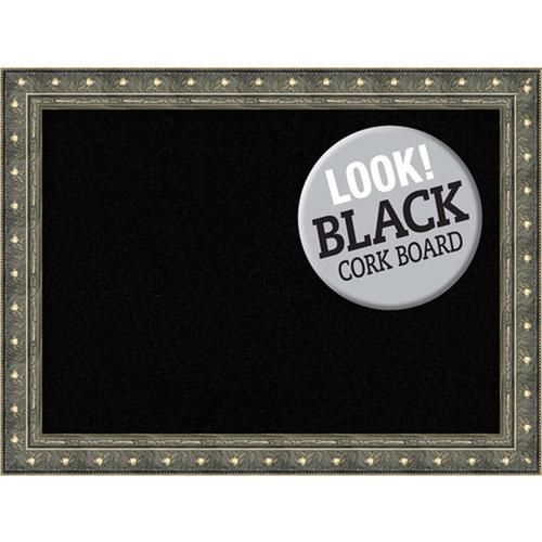 Amanti Art Barcelona Champagne, 32 In. x 24 In. Black Cork Board