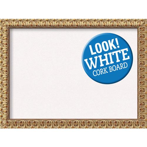 Amanti Art Florentine Gold, 32 In. x 24 In. White Cork Board