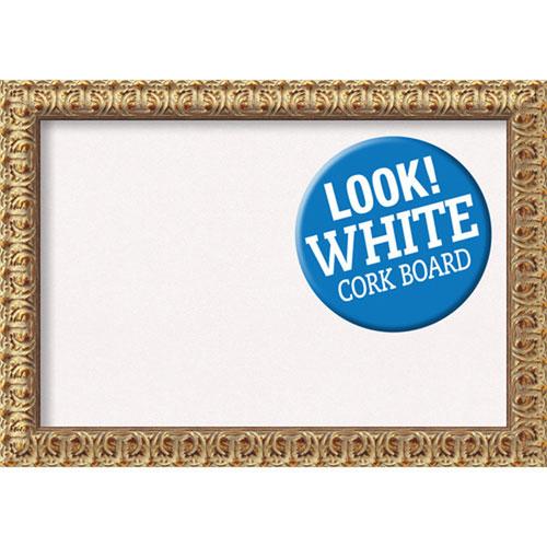 Amanti Art Florentine Gold, 28 In. x 20 In. White Cork Board