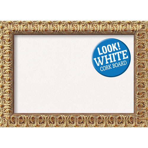 Amanti Art Florentine Gold, 22 In. X 16 In. White Cork Board ...