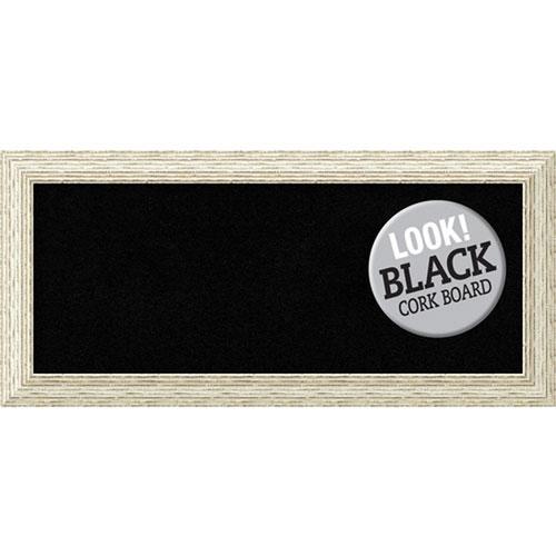 Amanti Art Cape Cod White Wash, 34 In. x 16 In. Black Cork Board