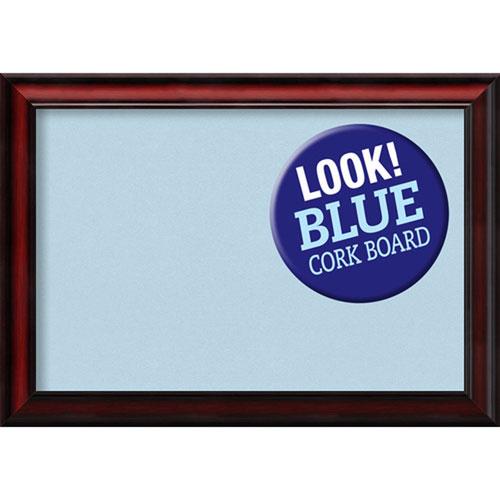 Amanti Art Rubino Cherry Scoop, 27 In. x 19 In. Blue Cork Board