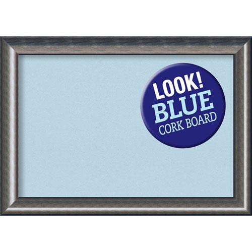 Amanti Art Quicksilver Scoop, 42 In. x 30 In. Blue Cork Board
