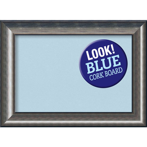 Amanti Art Quicksilver Scoop, 30 In. x 22 In. Blue Cork Board