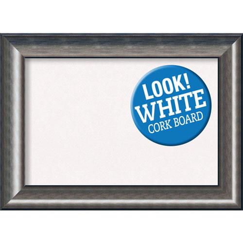 Amanti Art Quicksilver Scoop, 30 In. x 22 In. White Cork Board