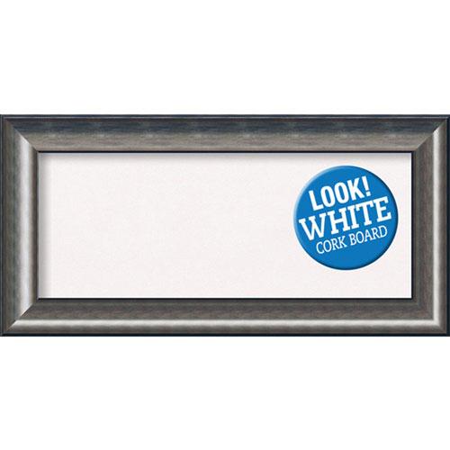 Amanti Art Quicksilver Scoop, 36 In. x 18 In. White Cork Board