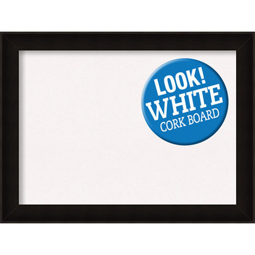Amanti Art Manteaux Black, 32 In. x 24 In. White Cork Board