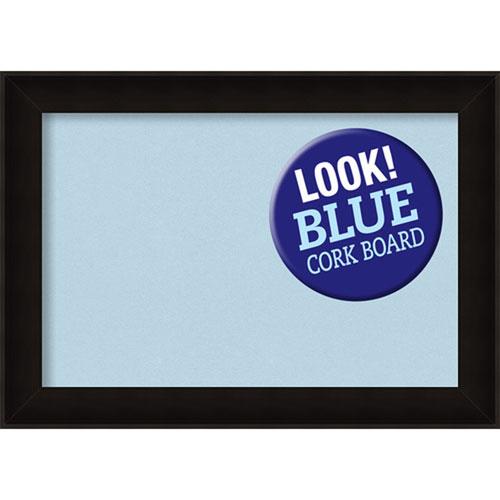 Amanti Art Manteaux Black, 28 In. x 20 In. Blue Cork Board