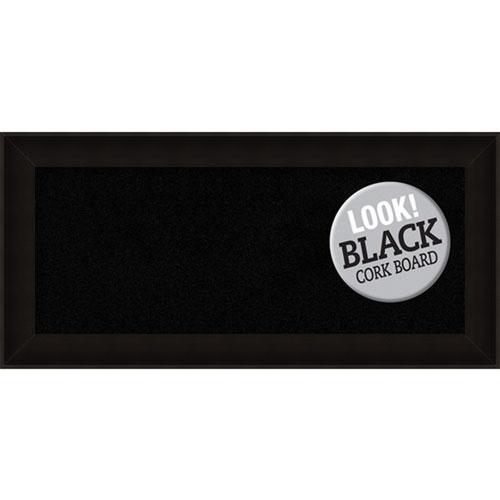 Amanti Art Manteaux Black, 34 In. x 16 In. Black Cork Board