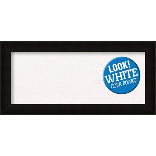 Amanti Art Manteaux Black, 34 In. x 16 In. White Cork Board