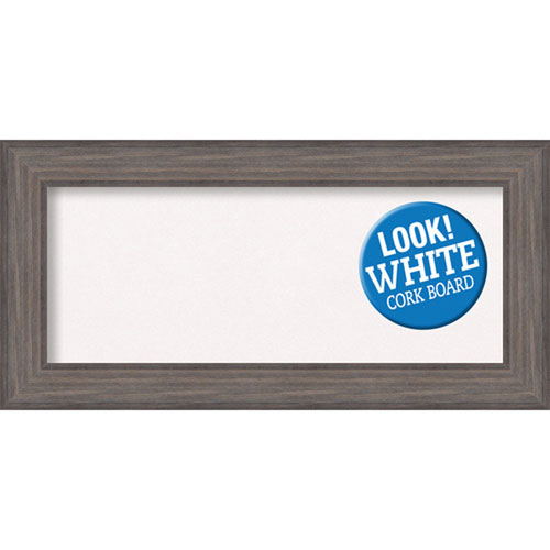 Amanti Art Country Barnwood, 36 In. x 18 In. White Cork Board