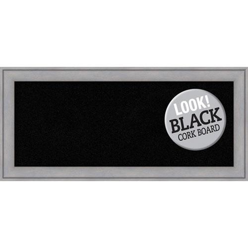 Amanti Art Graywash, 33 In. x 15 In. Black Cork Board