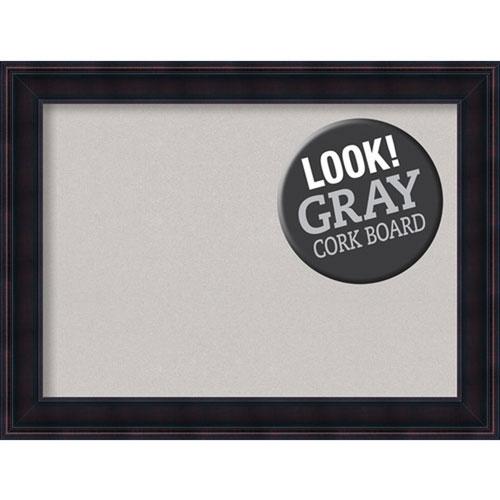 Amanti Art Annatto Mahogany, 33 In. x 25 In. Grey Cork Board