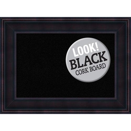Amanti Art Annatto Mahogany, 23 In. x 17 In. Black Cork Board
