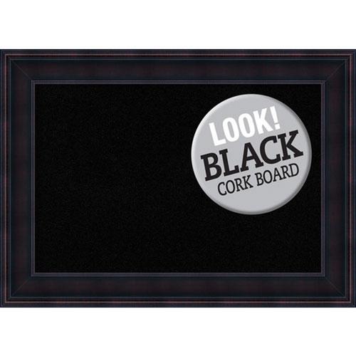 Amanti Art Annatto Mahogany, 29 In. x 21 In. Black Cork Board