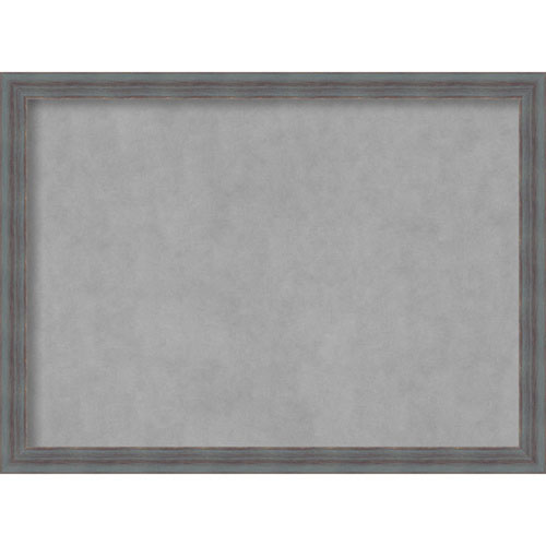 Amanti Art Dixie Grey Rustic, 30 In. x 22 In. Magnetic Board