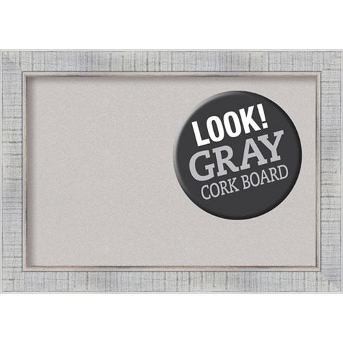 Amanti Art Sonoma White Wash, 21 In. x 15 In. Grey Cork Board