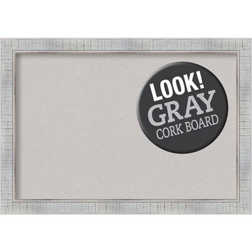 Amanti Art Sonoma White Wash, 27 In. x 19 In. Grey Cork Board