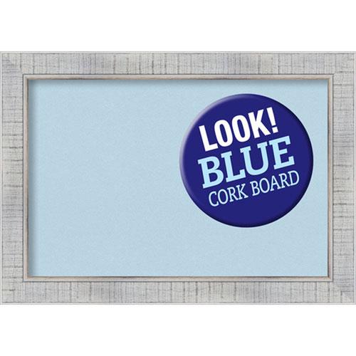 Amanti Art Sonoma White Wash, 21 In. x 15 In. Blue Cork Board