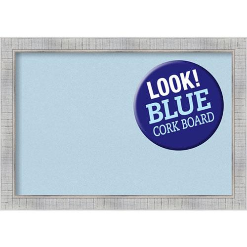 Amanti Art Sonoma White Wash, 27 In. x 19 In. Blue Cork Board