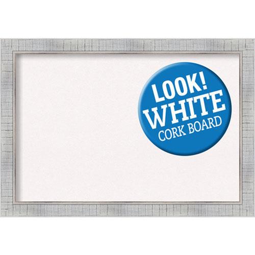 Amanti Art Sonoma White Wash, 27 In. x 19 In. White Cork Board