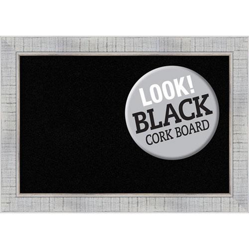 Amanti Art Sonoma White Wash, 21 In. x 15 In. Black Cork Board