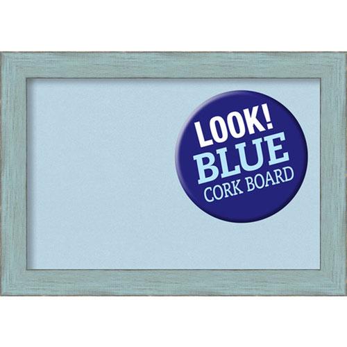 Amanti Art Sky Blue Rustic, 21 In. x 15 In. Blue Cork Board