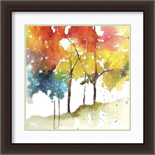 Rainbow Trees II by Leticia Herrera, 27 In. x 27 In. Framed Art