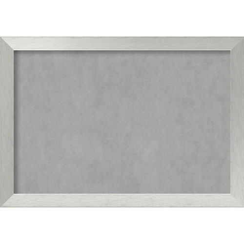 Brushed Sterling Silver, 40 In. x 28 In. Magnetic Board